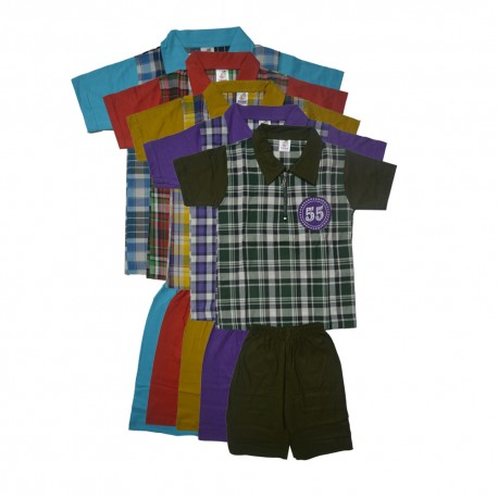MULTICOLOR PURE COTTON T-SHIRTS(T505) COMBO PACK OF 5 BY MYPENTACART