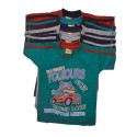 5 Multicolor  Cotton Kids T-Shirts With Pan By Kidsbazzar