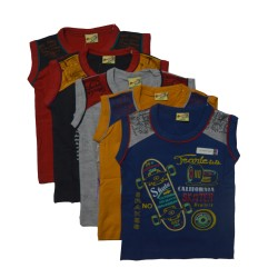 Kidsbazzar Multy Color Cotton T-Shirts With Pant Set of 5