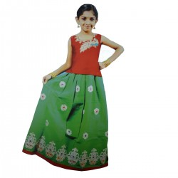 Girls Traditional fancy Lehenga Choli royal embose