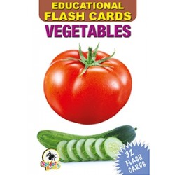 Colours Flash Cards - Multi Colour vegetables